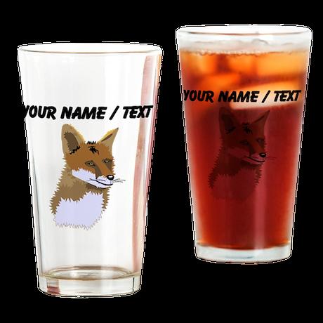 Custom Fox Drinking Glass