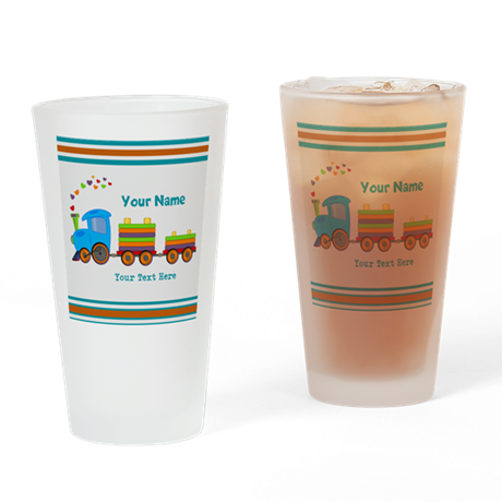 Custom Kids Train Drinking Glass