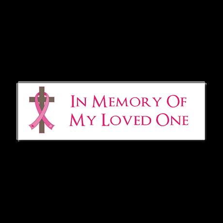 In Memory Cross Car Magnet 10 x 3