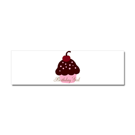 Birthday Girl Cupcake Car Magnet 10 x 3