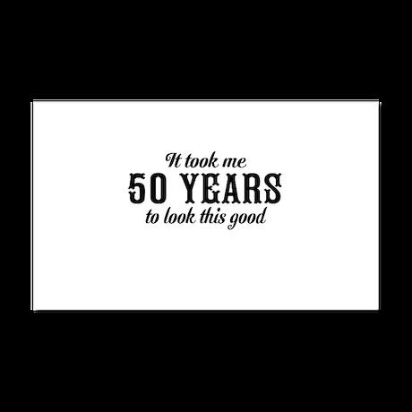 50th Birthday Car Magnet 20 x 12