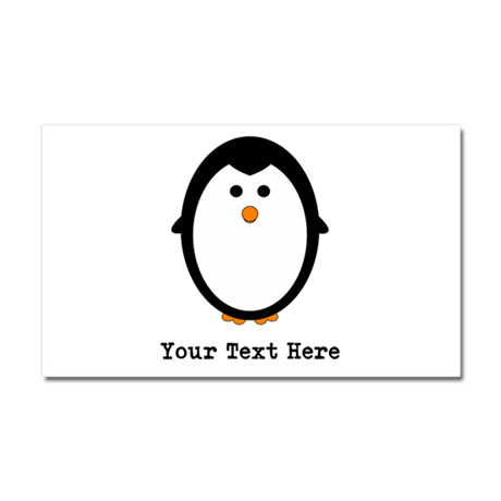 Personalized Penguin Car Magnet 20 x 12
