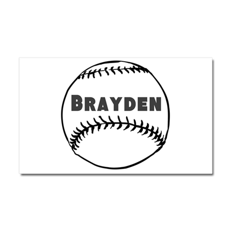 Personalized Baseball Car Magnet 20 x 12