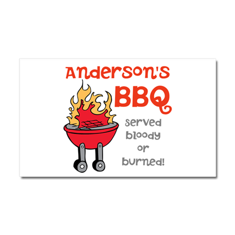 Personalized BBQ Car Magnet 20 x 12