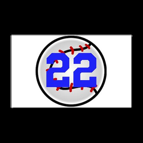 BB/SB Number Car Magnet 20 x 12