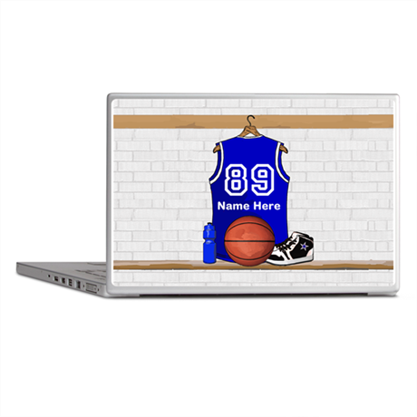 Personalized Basketball Jerse Laptop Skins