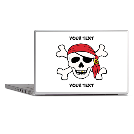 PERSONALIZE Funny Pirate Laptop Skins