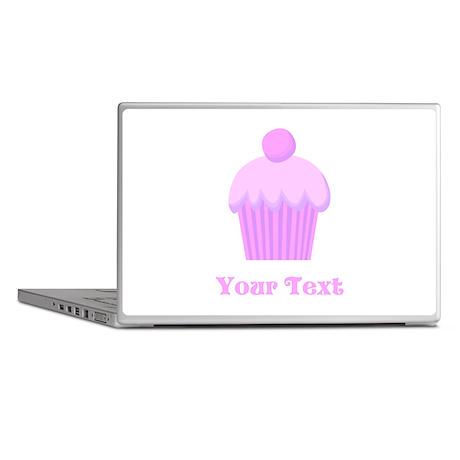 Pink Cupcake with Custom Text Laptop Skins
