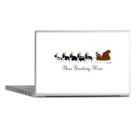 Landseer Sleigh - Your Text Laptop Skins