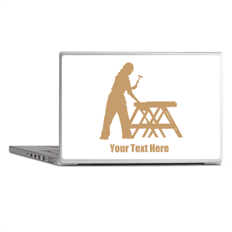 Carpenter. Add Your Text. Laptop Skins