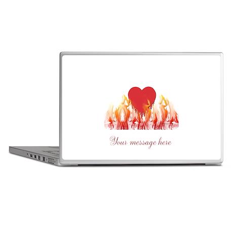 Flaming Heart Laptop Skins