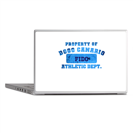 Personalized Property of Dogo Canario Laptop Skins