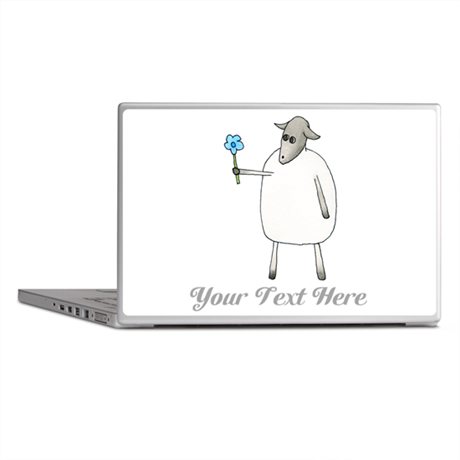 Sheep and Custom Text. Laptop Skins