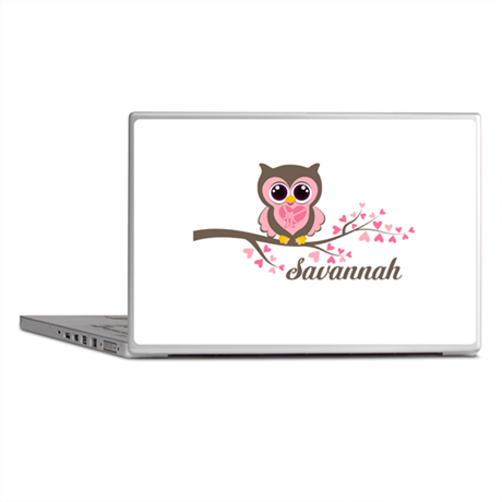 Custom Valentines Day owl Laptop Skins