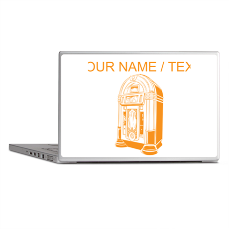 Custom Orange Jukebox Laptop Skins