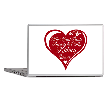 Personalize me Red Transplant Heart Laptop Skins