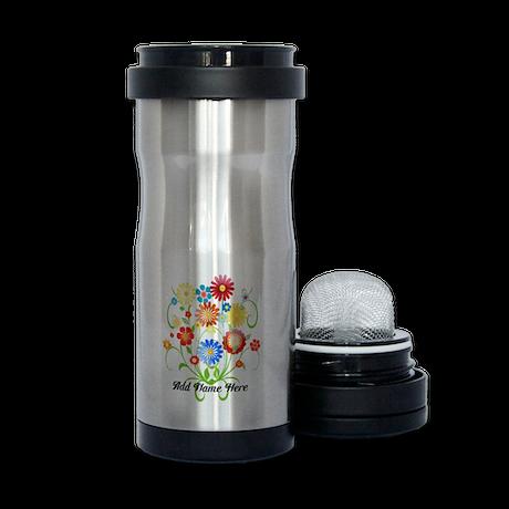Personalized floral light Tea Tumbler