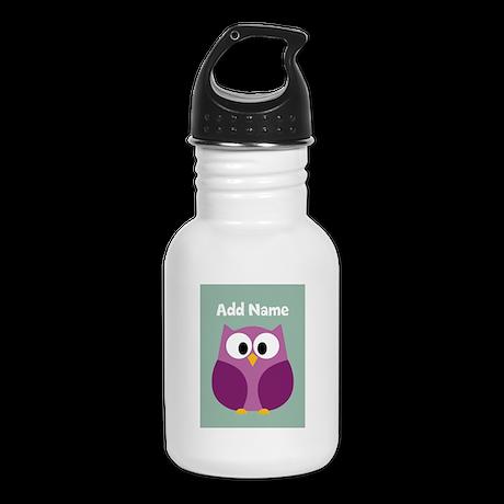 Modern Owl Mint Kid's Water Bottle