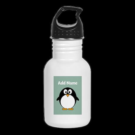 Modern Penguin mint Kid's Water Bottle