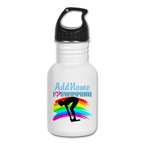 LOVE SWIMMING Kid's Water Bottle
