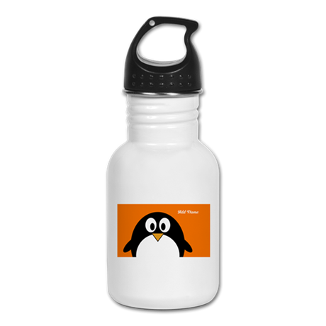 cute penguin drawing Kid's Water Bottle