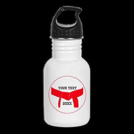 Custom Martial Arts Red Belt Kid's Water Bottle