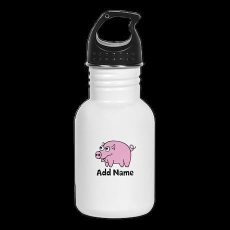 Add Name - Farm Animals Kid's Water Bottle