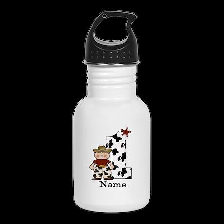 First Birthday Cowboy Kid's Water Bottle