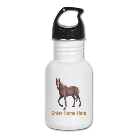Custom Horse Water Bottle