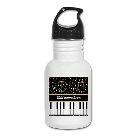 Personalized Piano and musical notes Kid's Water B