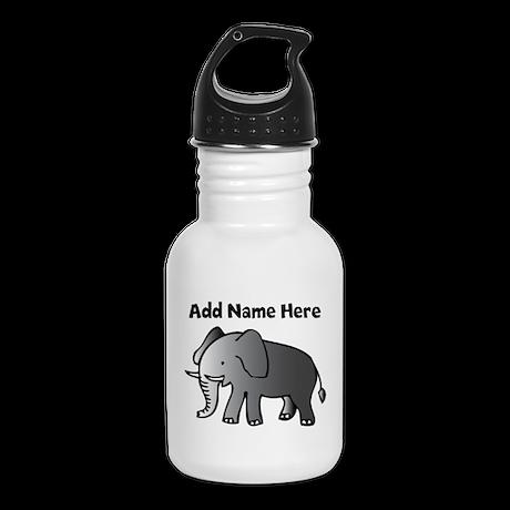 Personalized Elephant Kid's Water Bottle