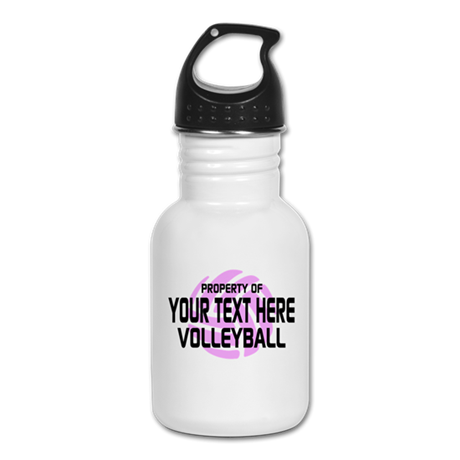 Property of Your Team Volleyball Kid's Water Bottl