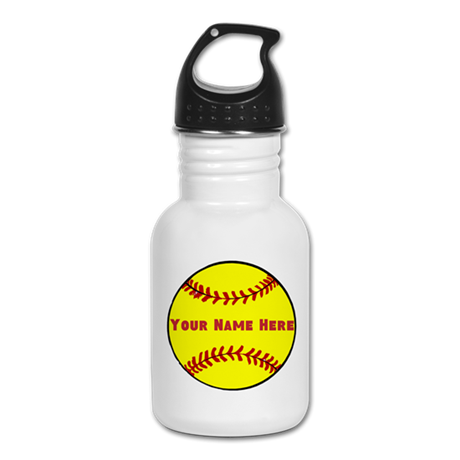 Personalized Softball Kid's Water Bottle