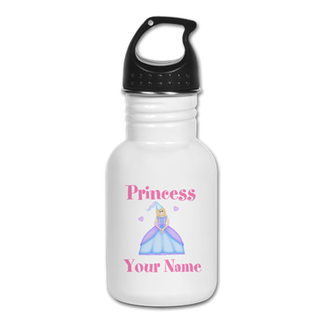 Blond Princess Personalized Kid's Water Bottle