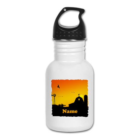 Sunrise at the Farm Kid's Water Bottle