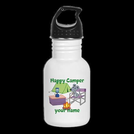 Custom Happy Camper Mouse Kid's Water Bottle