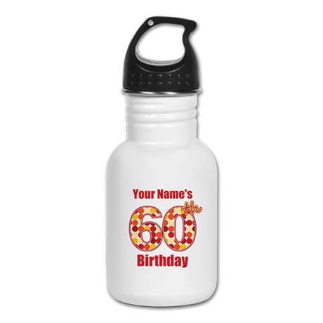 Happy 60th Birthday - Personalized! Kid's Water Bo