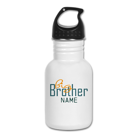Add Name Big brother Print Kid's Water Bottle