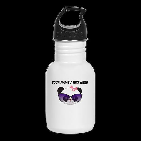 Custom Girl Panda With Sunglasses Kid's Water Bott