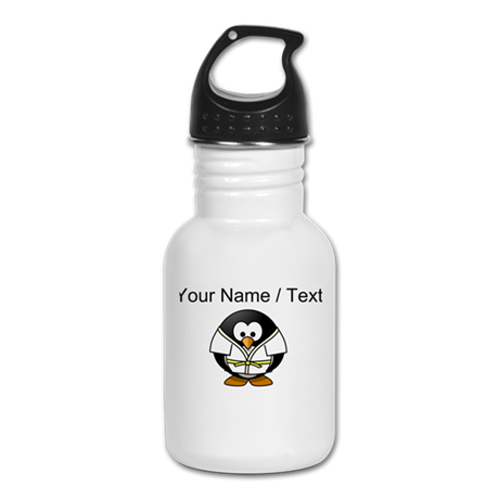 Custom Karate Penguin Kid's Water Bottle