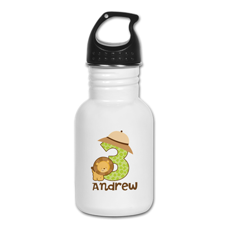 Personalized 3rd Birthday Kid's Water Bottle