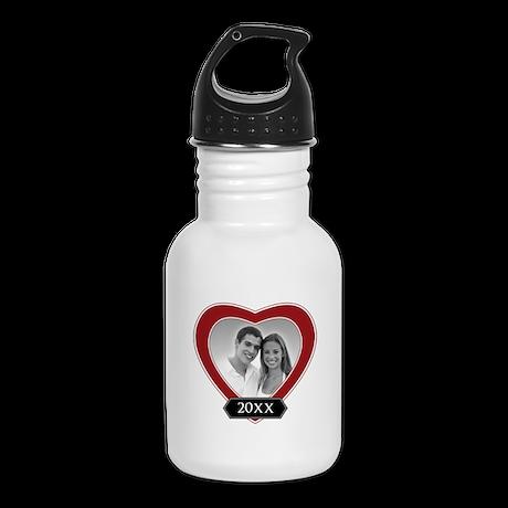 ADD PHOTO - heart frame Kid's Water Bottle