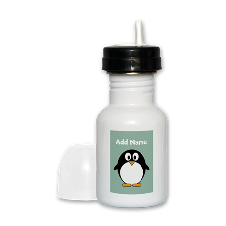 Modern Penguin mint Sippy Cup