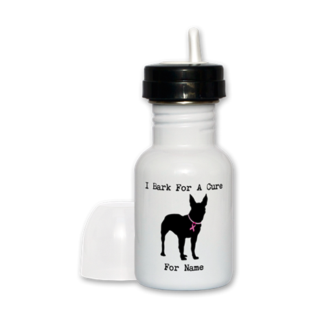 Bull Terrier Personalizable Bark For A Cure Sippy