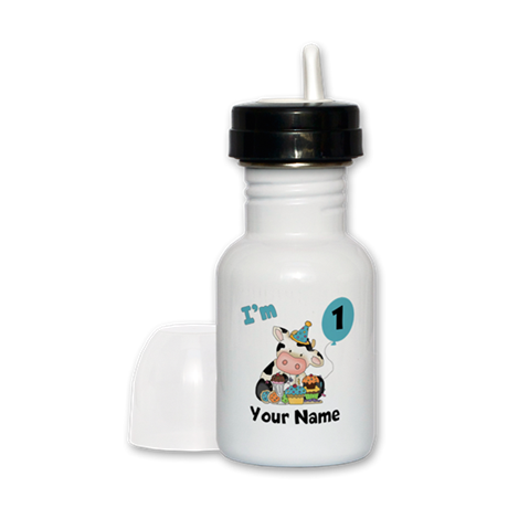 First Birthday Boy Cow Sippy Cup