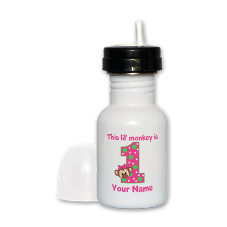 1st Birthday Monkey Girl Sippy Cup