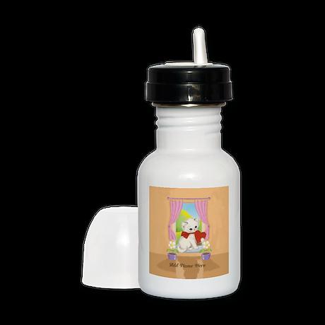 Personalized Cute Love Heart Kitten Sippy Cup