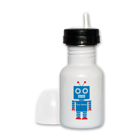 Custom Blue Robot Sippy Cup