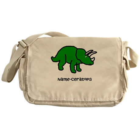 Name your own Triceratops! Messenger Bag