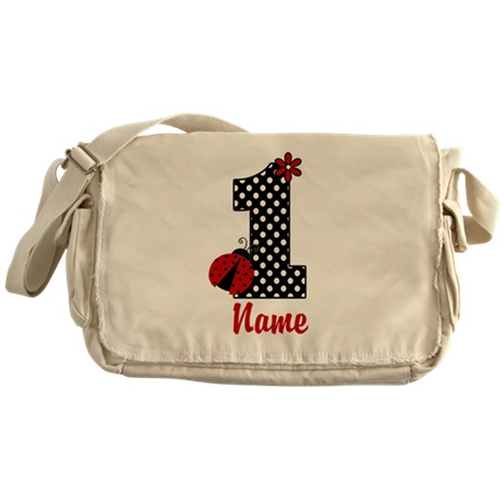 1st Birthday Ladybug Messenger Bag
